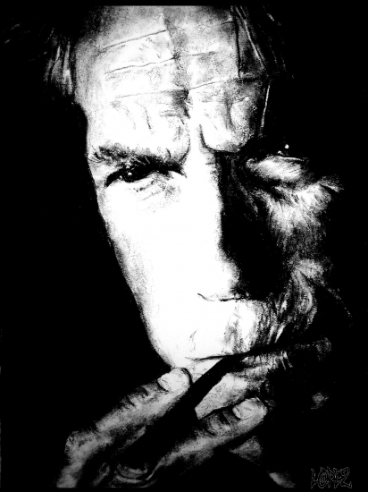 Clint Eastwood by Montaine